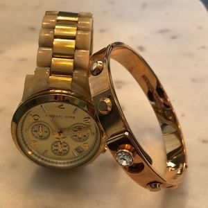 Michael Kors watch & bracelet (set)
